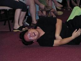 Falling unconscious